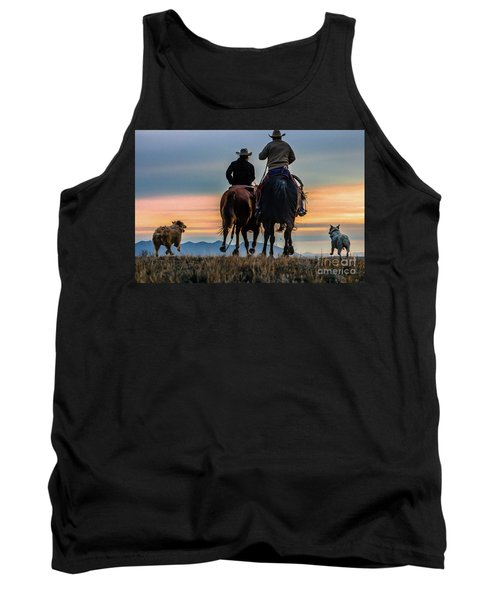 Racing To The Sun Wild West Photography Art By Kaylyn Franks Tank Top