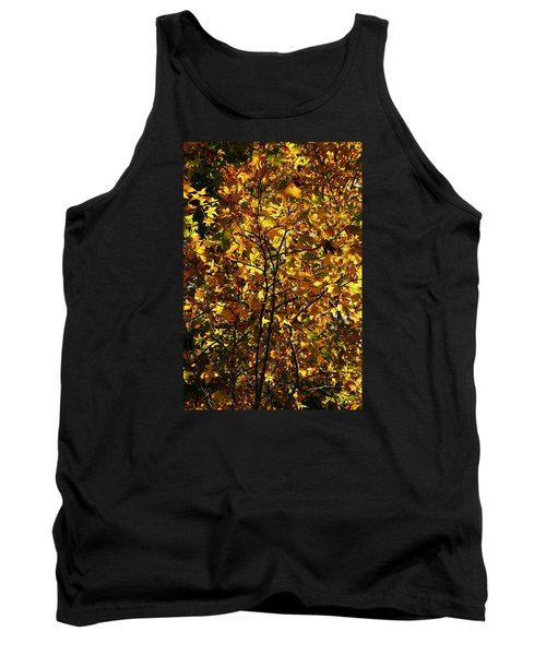 Tank Top featuring the photograph Radiant Leaves by Karen Harrison