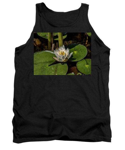 Radiant White Pond Lily  Tank Top