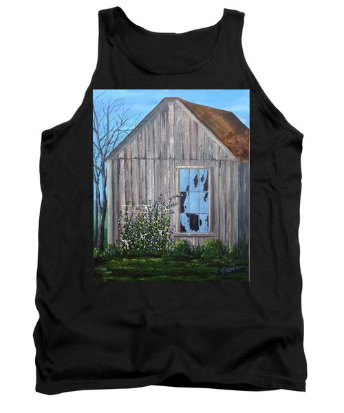 Rags, Sweet Peas And Time Tank Top by T Fry-Green