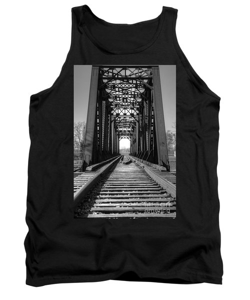 Railroad Bridge Black And White Tank Top