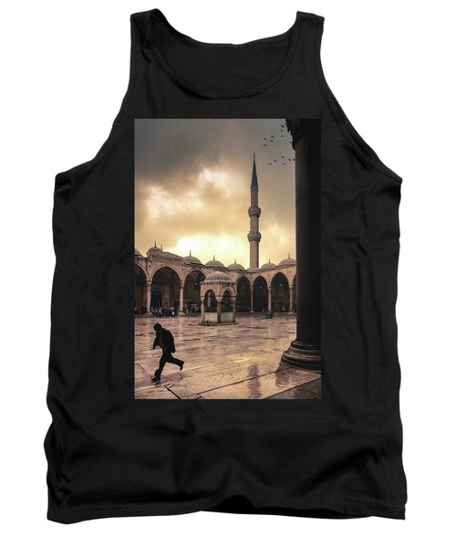Rain At The Blue Mosque Tank Top