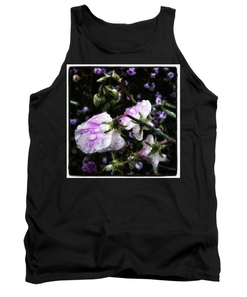 Tank Top featuring the photograph Rain Kissed Petals. This Flower Art by Mr Photojimsf