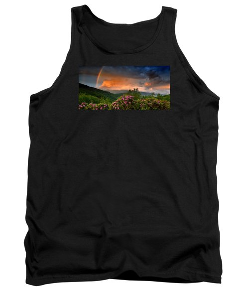 Rainbow And Rhododendrons On The Parkway Tank Top