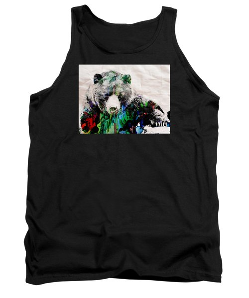 Rainbow Bear Watercolor Print Poster Tank Top