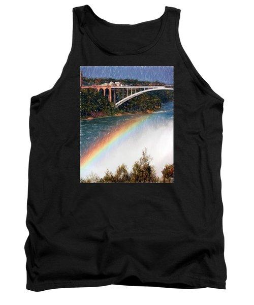 Rainbow Bridge - Niagara Falls Tank Top by John Freidenberg