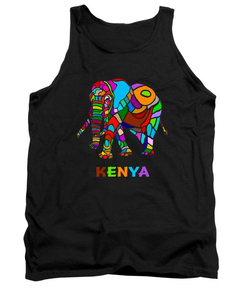 Tank Top featuring the digital art Rainbow Elephant by Anthony Mwangi