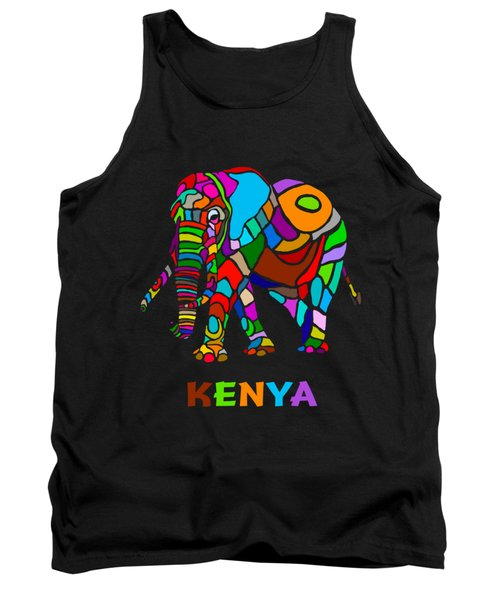 Rainbow Elephant Tank Top