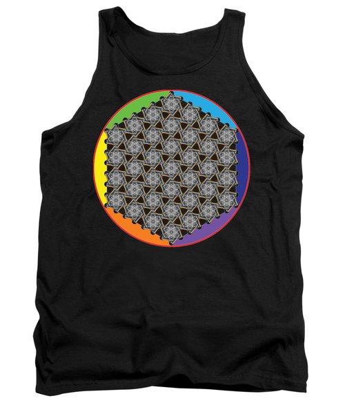 Rainbow Flower Of Life Wob Tank Top