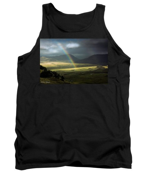 Tank Top featuring the photograph Rainbow In The Valley by Andrew Matwijec