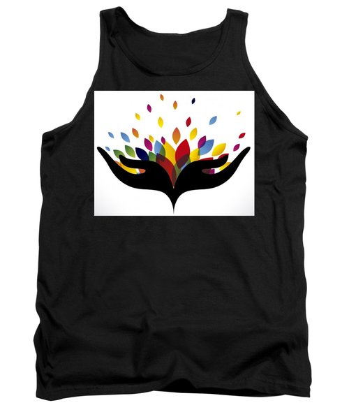 Rainbow Leaves Tank Top by Now