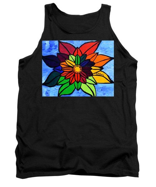Rainbow Lotus Flower Tank Top
