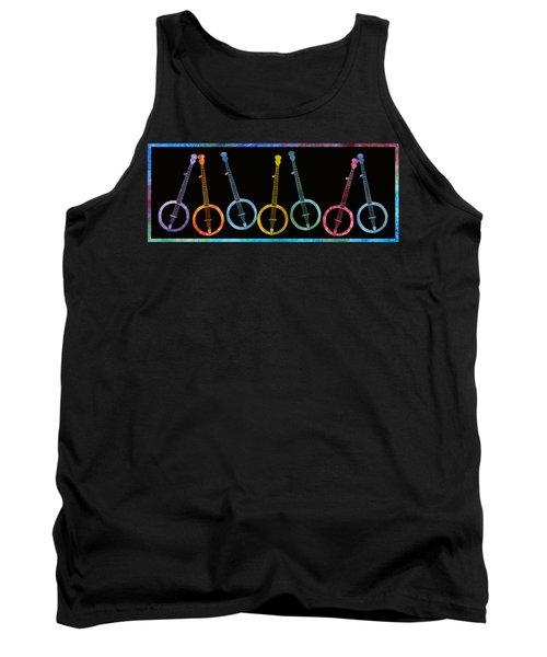 Rainbow Of Banjos Tank Top