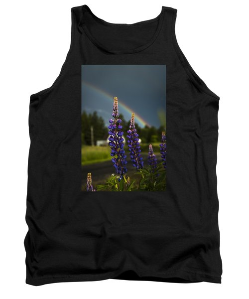Rainbow Over Lupine  Tank Top