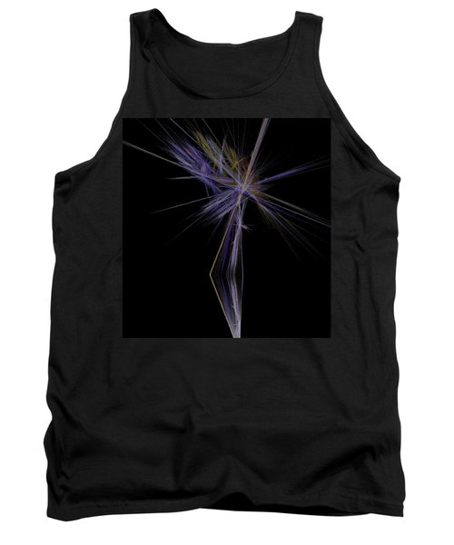 Tank Top featuring the digital art Rainbow Palm by Sara  Raber