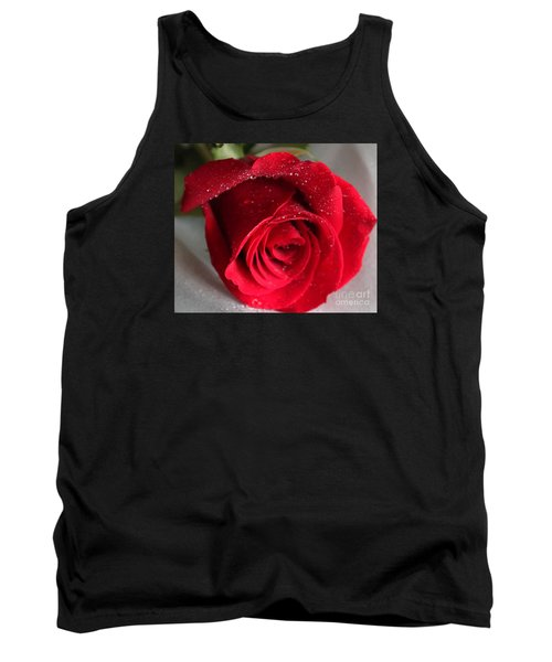 Raindrops On Roses Tank Top by Rita Brown