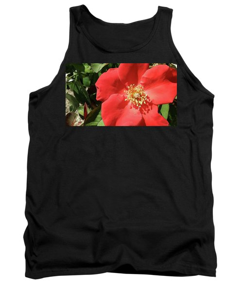 Tank Top featuring the photograph Rambling Rose Watercolor by Donna G Smith