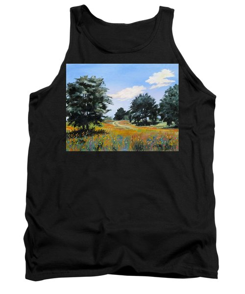 Ranch Road Near Bandera Texas Tank Top