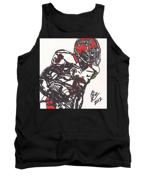 Tank Top featuring the drawing Rashard Mendenhall 1 by Jeremiah Colley