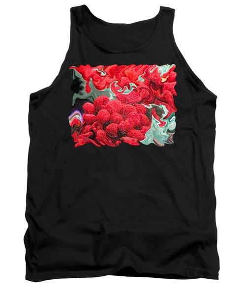 Raspberries Tank Top by Kathy Moll