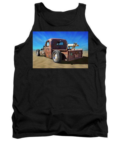 Tank Top featuring the photograph Rat Truck On Beach 2 by Mike McGlothlen