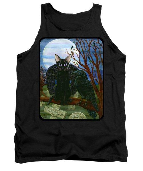 Raven's Moon Black Cat Crow Tank Top