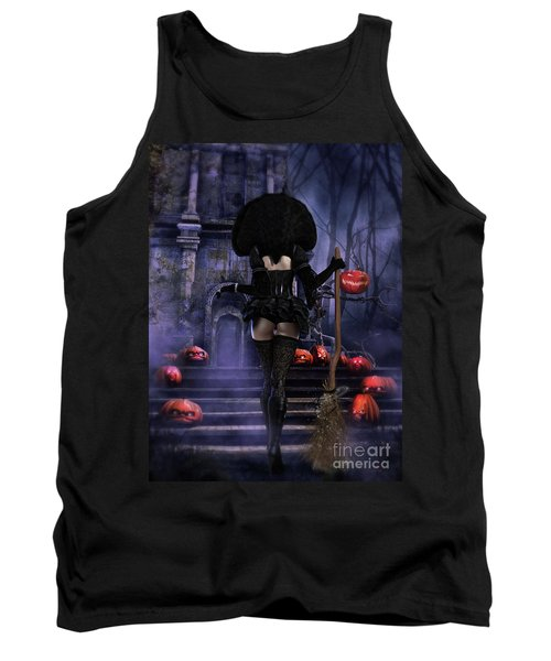 Ready Boys Halloween Witch Tank Top by Shanina Conway