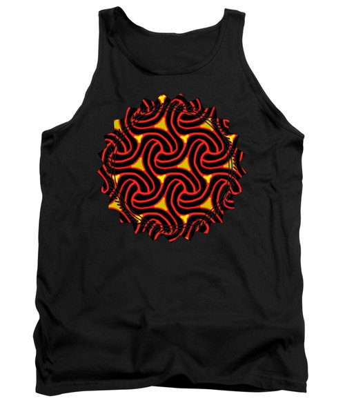 Red And Black Knot Pattern Tank Top