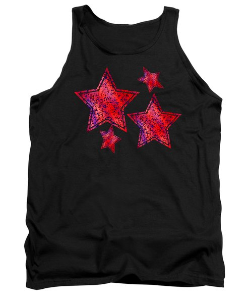 Red And Blue Splatter Abstract Tank Top