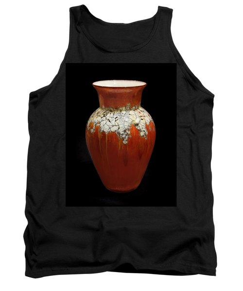 Red And White Vase Tank Top