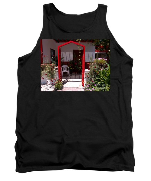Red Arch On Lesvos Tank Top