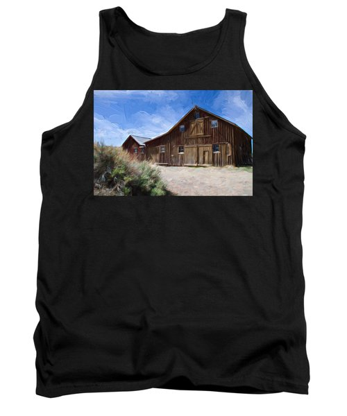 Tank Top featuring the photograph Red Barn Of Bodie by Lana Trussell