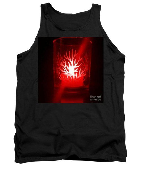 Red Candle Light Tank Top