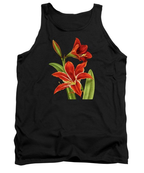 Red Christmas Lily Tank Top