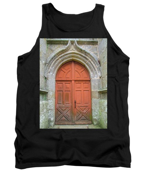 Red Church Door IIi Tank Top by Helen Northcott