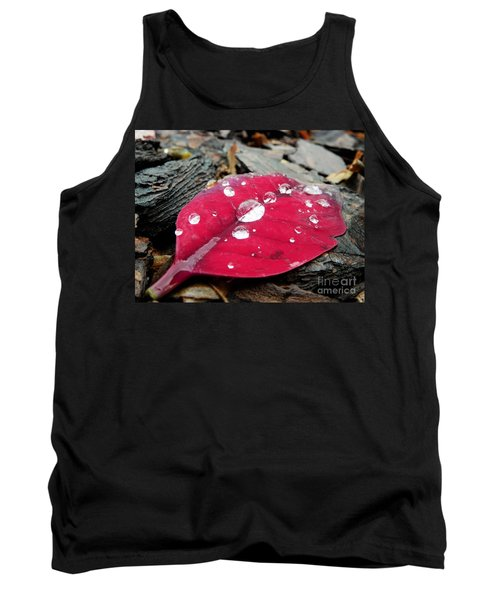 Red Fall Leaf Tank Top
