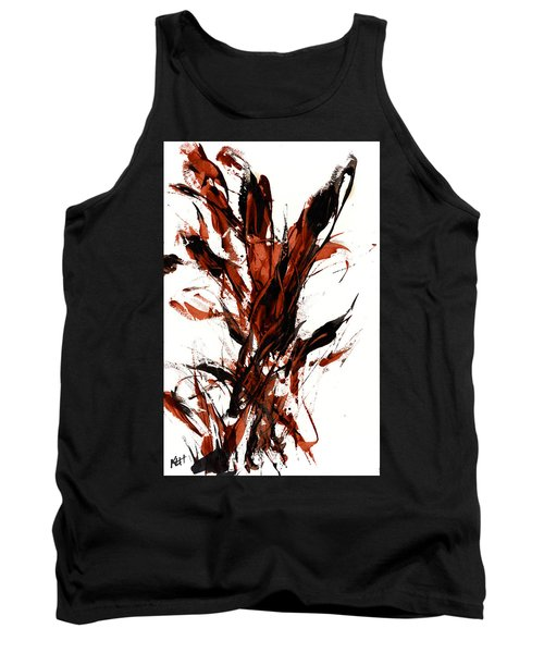 Tank Top featuring the painting Red Flame 66.121410 by Kris Haas