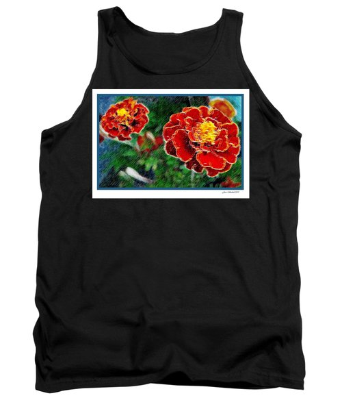 Tank Top featuring the photograph Red Flower In Autumn by Joan  Minchak