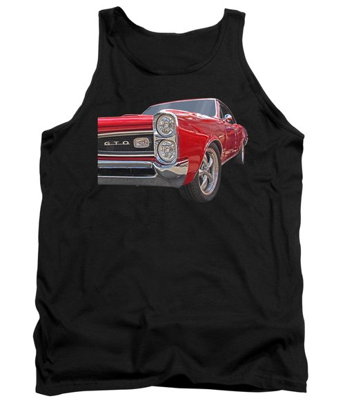 Red Gto Tank Top by Gill Billington