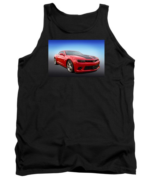 Tank Top featuring the photograph Red Hot Camaro by Keith Hawley