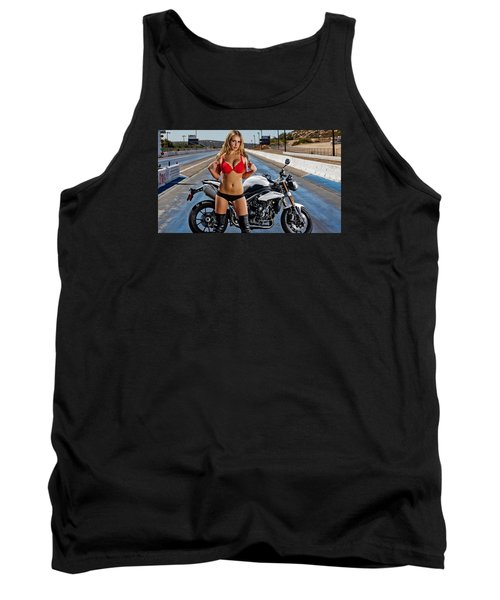 Tank Top featuring the photograph Red Is Not Always For Ducati by Lawrence Christopher