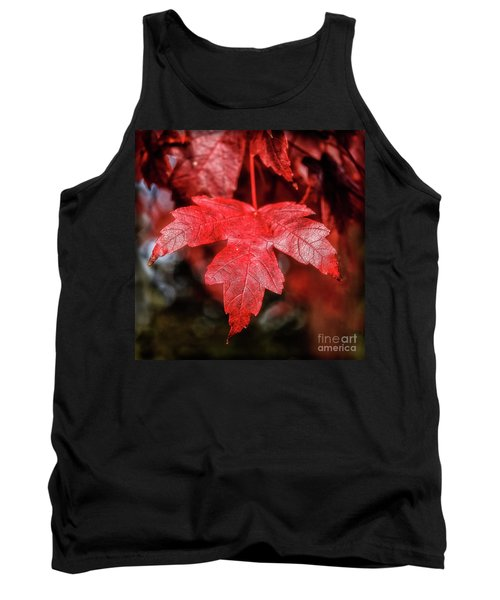 Tank Top featuring the photograph Red Leaf by Robert Bales