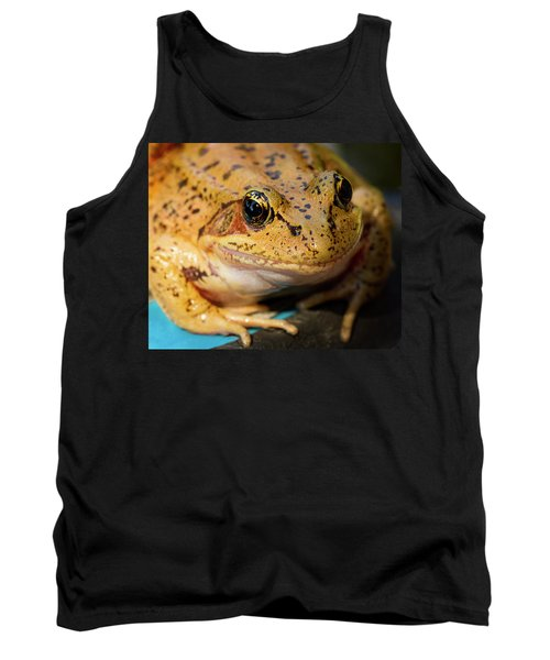 Tank Top featuring the photograph Red Leg Frog by Jean Noren