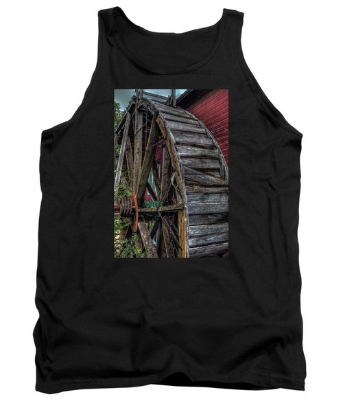 Tank Top featuring the photograph Red Mill Wheel 2007 by Trey Foerster