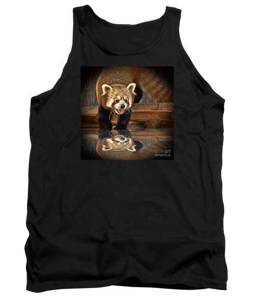 Red Panda Altered Version Tank Top by Jim Fitzpatrick