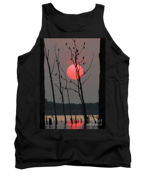 Red Rise Cormorants Tank Top by Roger Becker