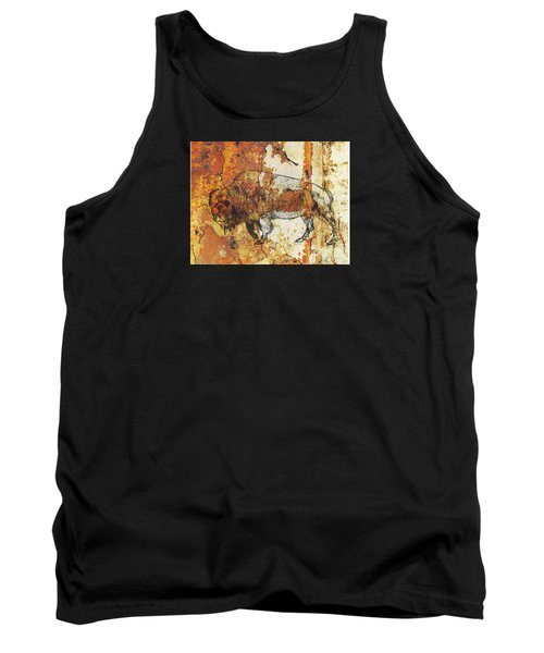 Red Rock Bison Tank Top