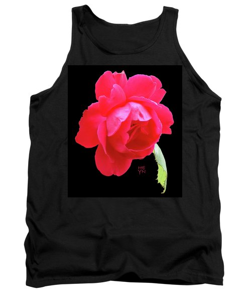 Red Rose Cutout Tank Top