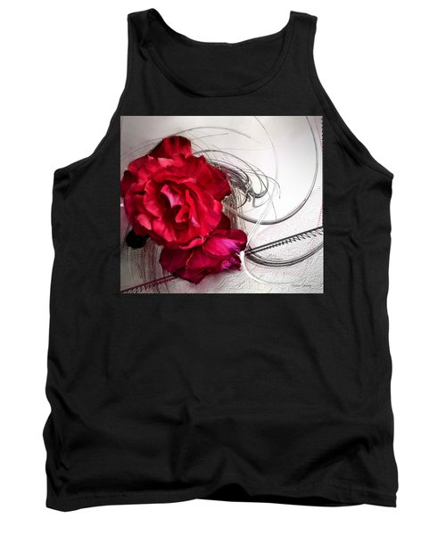 Red Roses Tank Top by Susan Kinney