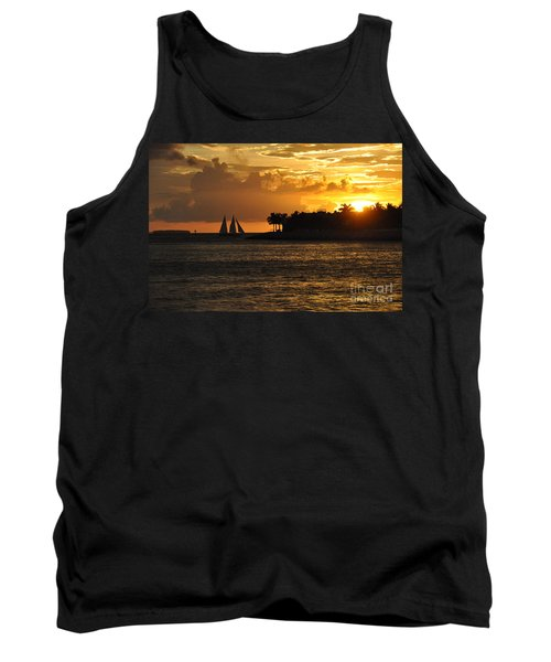 Tank Top featuring the photograph Red Sails At Night by John Black